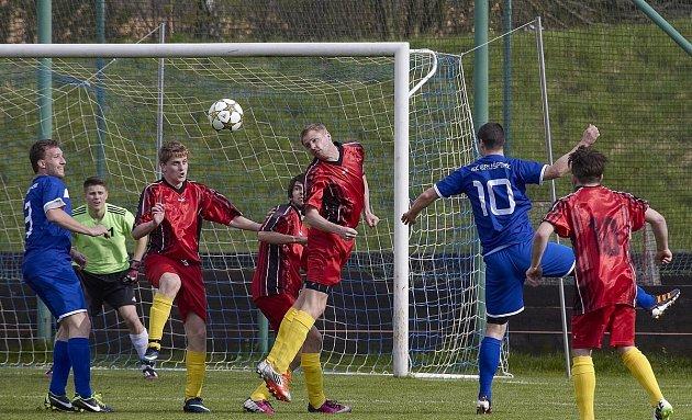 Fotbalisté Brušperku nezvládli domácí utkání sBřidličnou, které podlehli 2:3.