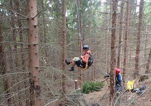 Záchrana paraglidisty