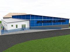 Vizualizace vybraného návrhu nového sportoviště. V nové hale by si Hrádečtí mohli zacvičit v roce 2018.