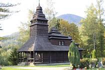 Dřevěný kostel v Kunčicích pod Ondřejníkem.