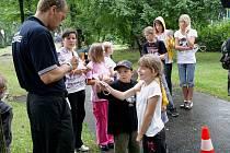 Městská policie ve Frýdku-Místku připravila ve středu 24. srpna v parku Sady Svobody akci Malý strážník. Děti si mohly vyzkoušet vstupní testy strážníků.