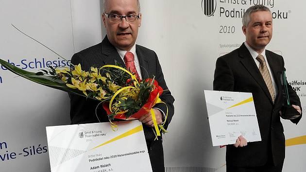 Mariusz Walach (na snímku vlevo) a jeho bratr Adam se stali Podnikateli roku 2010 Moravskoslezského kraje.