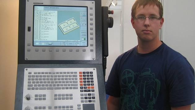 Osmnáctiletý Filip Hranický z Kozlovic vyhrál na brněnském strojírenském veletrhu Soutěž mladých strojařů.