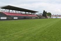 Fotbalový stadion v Třinci.