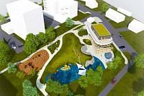 Vizualizace části nového komplexu Brána Beskyd nedaleko centra Frýdlantu nad Ostravicí.