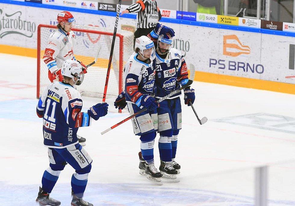 Hokejisté Komety hostili ve čtvrtém čtvrfinále play-off Třinec.