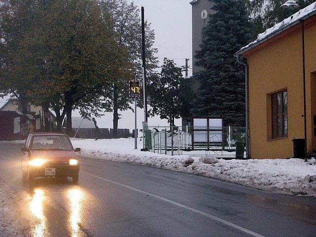 Digitální radar se nedávno objevil také poblíž kaple na Myslíku, který spadá pod Palkovice.