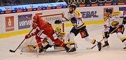 Třinečtí (v červeném) na ledě Litvínova kralovali.