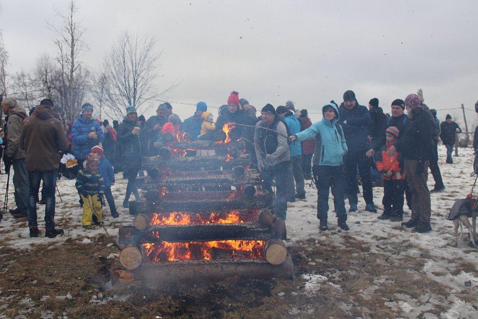 Tradiční novoroční výšlap na horu Kubánkov, středa 1. ledna 2020.