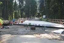 Oprava mostu přes Černou Ostravici.