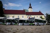 Představení nových nízkoemisních autobusů SOR NSG 12m s pohonem na CNG, 24. července 2020 ve Frýdku-Místku.
