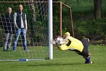 V derby mezi Starým Městem a hosty z Dobré padl jen jeden gól. Postaral se o něj v závěru střetnutí domácí obránce Štěrba.