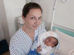 Tobiáš Kandrak s maminkou, Frýdek-Místek, nar. 8. 5., 52 cm, 4,07 kg. Nemocnice ve Frýdku-Místku.