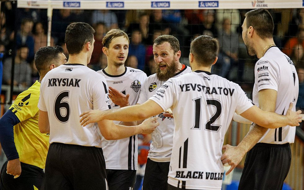 Utkání 18. kola volejbalové extraligy mužů: Beskydy - Ostrava, 8. února 2020 ve Frýdku-Místku.