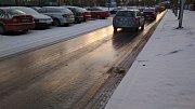 """""""Aprílové"""" počasí panovalo v pondělí 14. ledna ve Frýdku-Místku."""