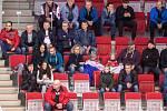 Přípravný zápas před MS U20 Česká republika - Slovensko, 22. prosince 2019 v Třinci. Na snímku fanoušci.