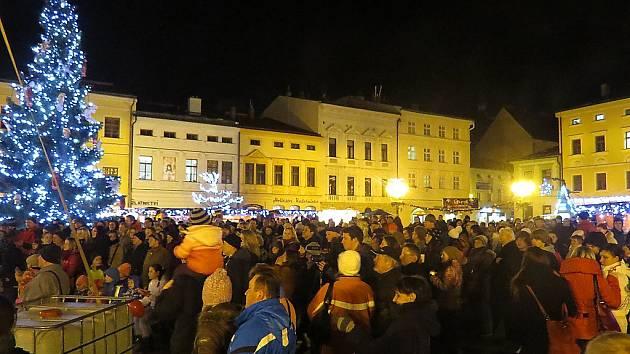 Vánoční náměstí Svobody v Místku.