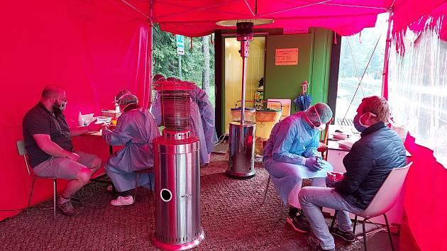 Plošné testování v třinecké nemocnici.