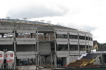 Rozestavěná Werk Arena v Třinci.