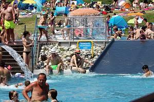 Aquapark Olešná ve Frýdku-Místku, sobota 19. června 2021.