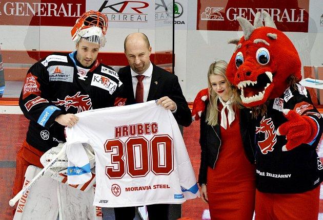 Šimon Hrubec odchytal 300.utkání vdresu Ocelářů.