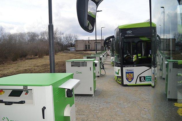 Nabíjecí stanice elektrobusů v Třinci.