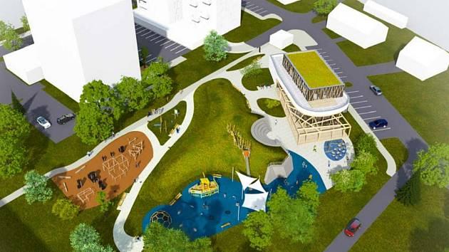 Budoucí podoba dnešní volné plochy v centru města.  Foto: MěÚ Frýdlant n. O.