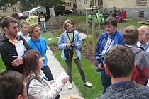 Vnitroblok mezi Jiráskovou a Wolkerovou ulicí v Třinci mladí zahradníci během soutěže Lipová ratolest proměnili v nový park.