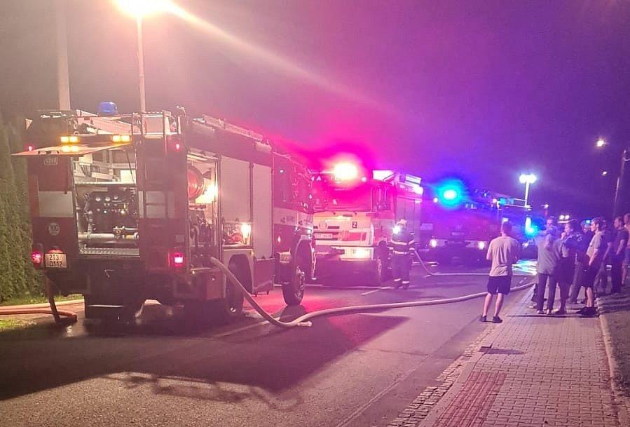 Požár nemovitosti v Dolních Domaslavicích, 14. září 2021.