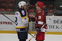 Frýdečtí hokejisté vyhráli ve třetím čtvrtfinálovém utkání doma s Kopřivnicí 4:1 a celou sérii tak ukončili již po třech zápasech.