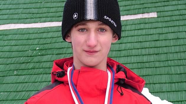 Nýdecký skokan na lyžích Robert Szymeczek.