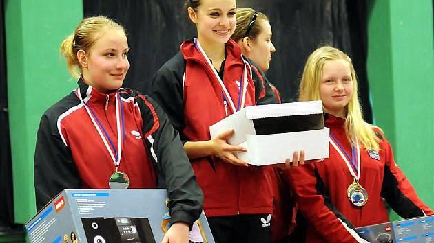 Republikový šampionát dorostenců ve stolním tenise ovládly domácí hráčky Frýdlantu nad Ostravicí.