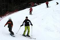 Velmi dobré podmínky k lyžování nabízí Ski areál Sviňorky v Morávce.