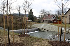 Domy a chaty v Raškovicích jsou chráněny obnovenými spádovými stupni.