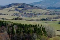 Pohled na Metylovice od Králové Hory.