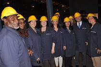 Delegace na návštěvě Třineckých železáren.