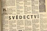 Srpen 1968 v Třinci podrobně sledoval místní tisk.