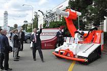 Velkým lákadlem má být v sobotu servisní, zásahový a záchranářský robot Hardy.