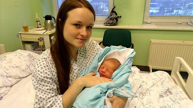 Matyáš Stebel s maminkou, Třinec, nar. 2. 1, 52 cm, 3,9 kg, Nemocnice Třinec.