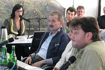 Opoziční zastupitel Radim Turek (vpravo).