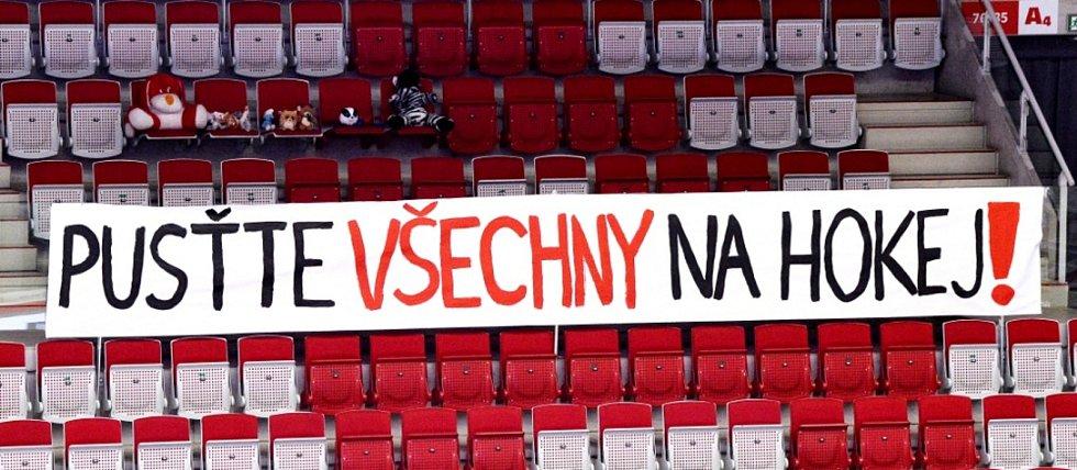 Hokejisté Třince v utkání 22. kola extraligy proti Hradci Králové.