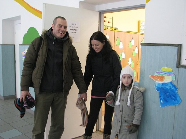 Úterní zápis prvňáčků vZŠ Dany a Emila Zátopkových vTřinci. Očekává se, že vzáří zde do prvních tříd nastoupí asi čtyřicet dětí.