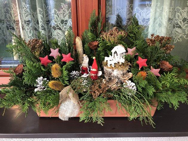 Vánoční ozdoby od Pavly Špokové zLučiny.