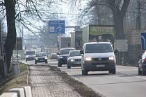 Stávající silnice v Oldřichovicích.