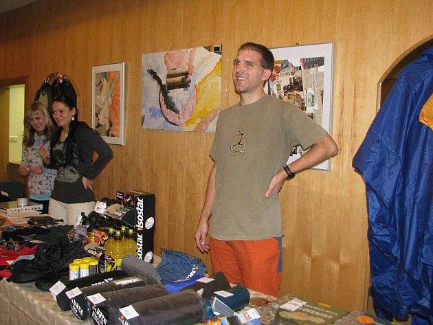 Martin Stiller v Nové scéně Vlast, kde se o víkendu konal festival Cyklocestování.