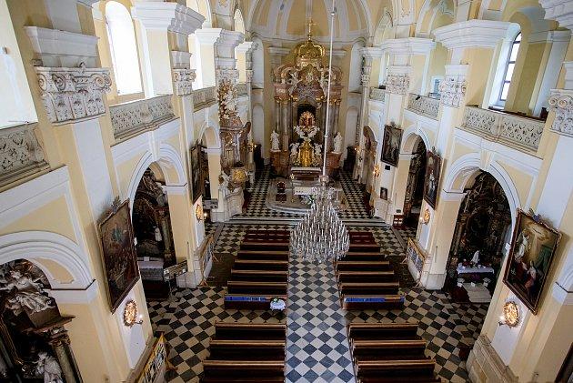 Bazilika Navštívení Panny Marie ve Frýdku-Místku, srpen 2020.
