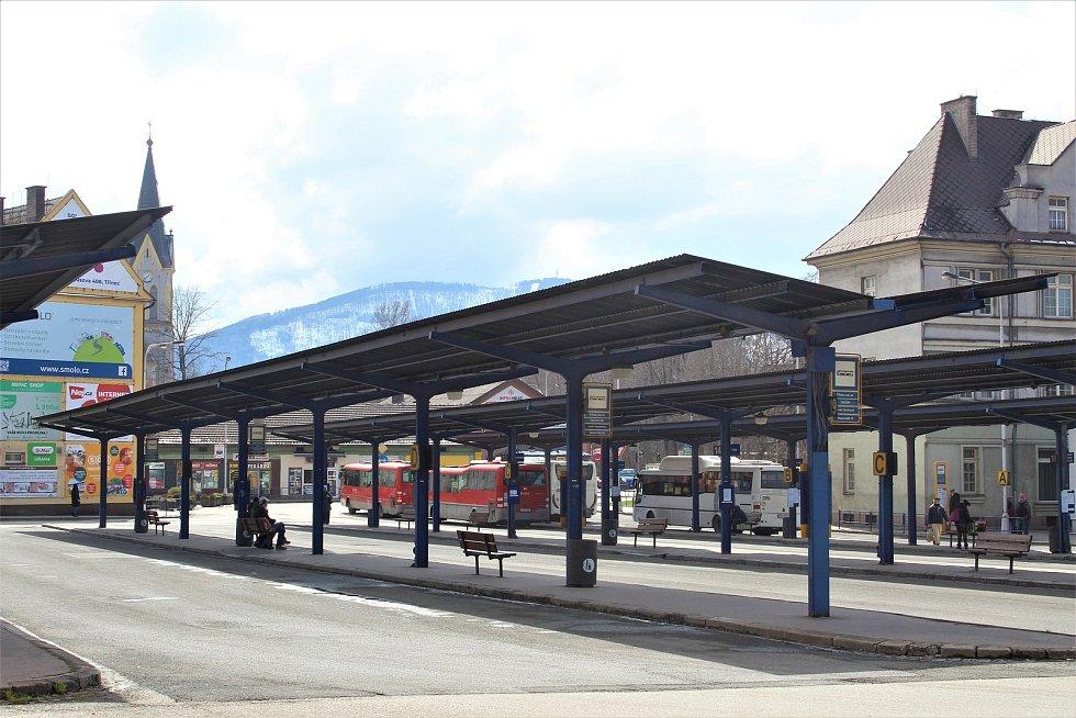 Autobusové nádraží v Třinci.