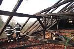 Následky požáru v Dolních Tošanovicích.