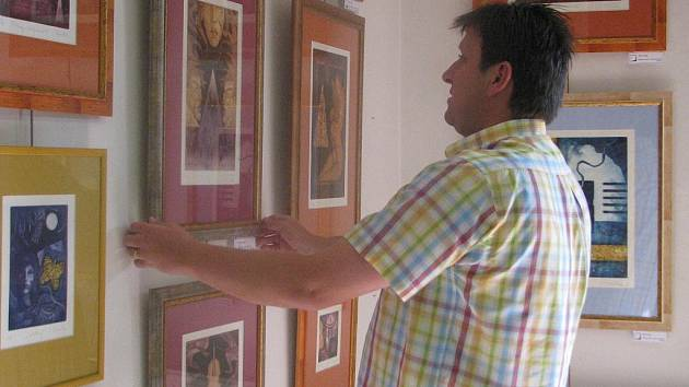 Prázdninová výstava Igora Cvacha v Galerii U Jakuba ve Frýdku-Místku.