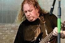 Lubomír Strakoš při vystoupení s kapelou Nightwish revival.